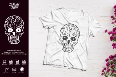 Sugar Skull Mandala cut file designs