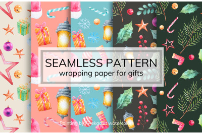 Seamless Pattern for Gift Wrapping Paper