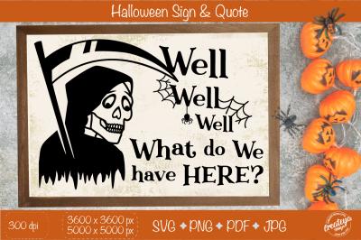 Halloween sign SVG, Halloween porch, Halloween farmhouse