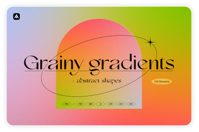 Grainy gradients - backgrounds & abstract shapes collection