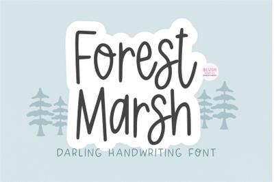 FOREST MARSH Cute Handwriting Font