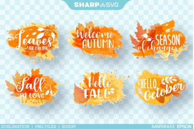 Fall Sayings sublimation PNG | Sublimation Bundle Quotes PNG