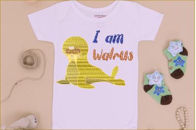 I Am Walrus Lettering Shape