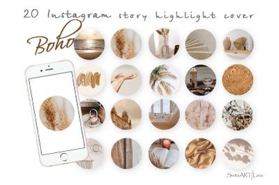 Instagram Boho Story Highlight covers