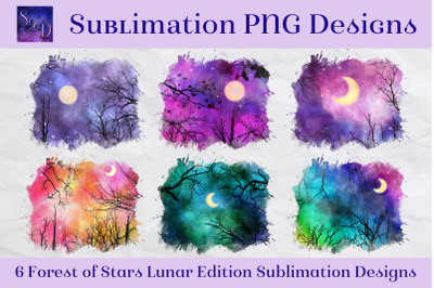 Sublimation PNG Designs - Forest of Stars Lunar Edition
