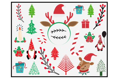 Christmas elements vector graphic