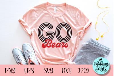 Go Bears svg, sports svg