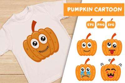 Pumpkin Cartoon Illustration | Sublimation Design