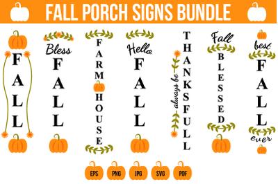 Fall Porch Signs SVG Bundle