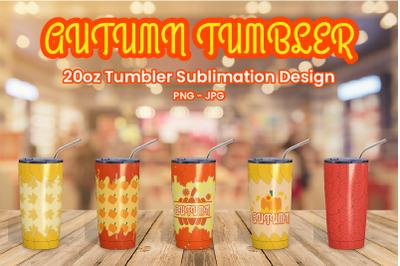 Autumn 20oz Tumbler Sublimation Design