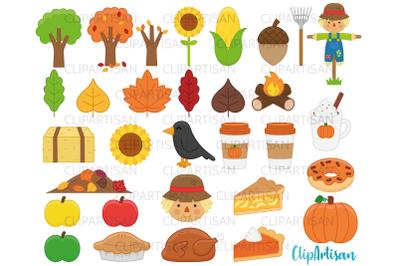 Fall Autumn Clip Art Pumpkin Spice Harvest Autumn Leaves