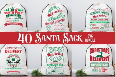 Santa Sack SVG Bundle,Christmas Santa Bag SVG, Christmas Svg, Farmhous