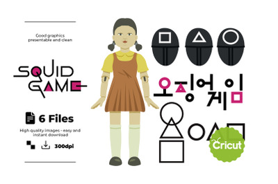 Squid Game Logo, Squid Game, dxf, eps, svg, pdf, png , cricut , silhou