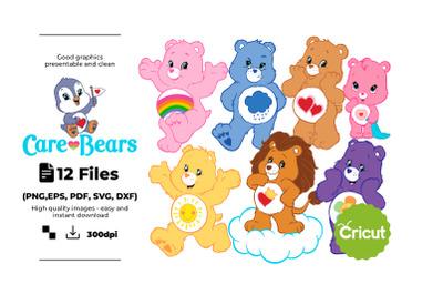 Care Bears Svg, Png, Pdf, Eps, Instant Download , print , sublimation,