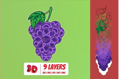 3D Grape SVG Cut File