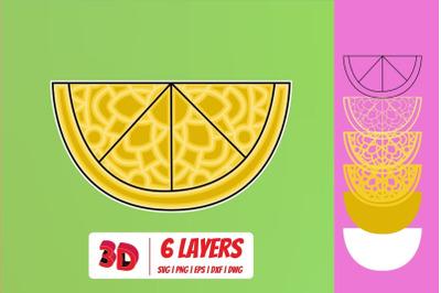 3D Lemon SVG Cut File