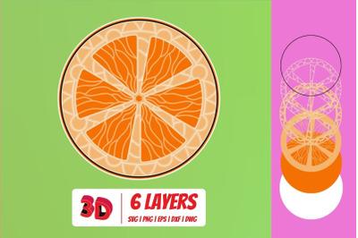 3D Orange SVG Cut File