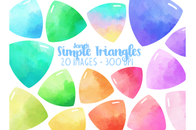 Watercolor Simple Triangles Clipart