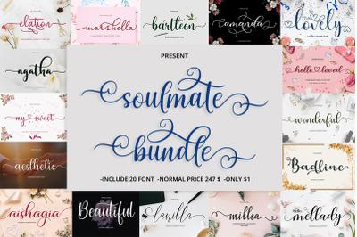 Soulmate Font Bundle