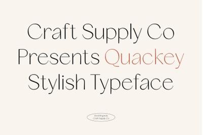 Quackey - Stylish Typeface