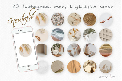 Instagram Neutrals Story Highlight covers