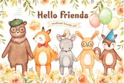 Hello Friends Woodland Animals Set