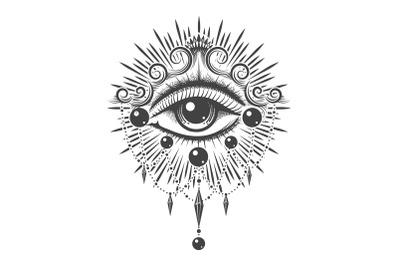 All Seeing Eye Esoteric Tattoo