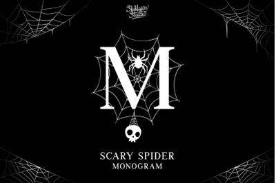 Scary Spider Monogram Font