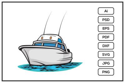 Boat design illustration