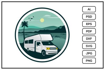 RV recreational vehicle storage design illustration