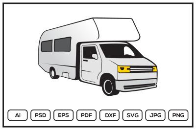 RV recreational vehicle design illustration