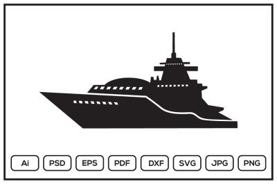 Warship design illustration