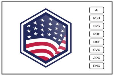 American flag design illustration