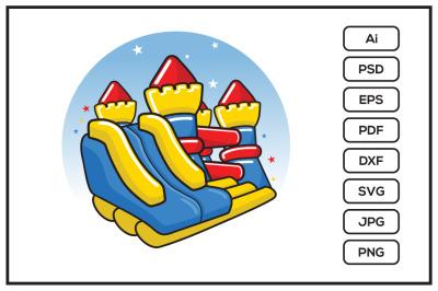 Bounce house design illustration