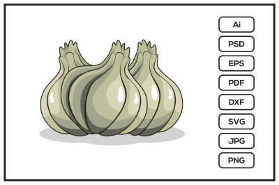 Garlic design illustration