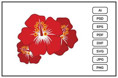 Hibiscus flower design illustration
