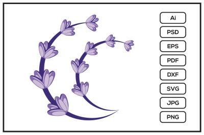 Lavender flower design illustration