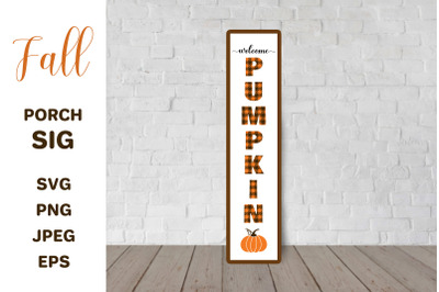Fall Porch Sign. Welcome pumpkin. Thanksgiving Front Sign.