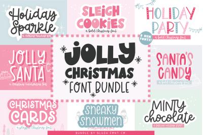 JOLLY CHRISTMAS Font Bundle