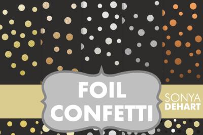 Digital Papers Foil Confetti