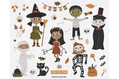Halloween Kids Clipart