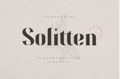 Solitten | Elegant & Stylish Typeface
