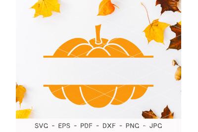 Pumpkin SVG, Pumpkin Monogram Svg, Fall Pumpkin Svg, Silhouette svg