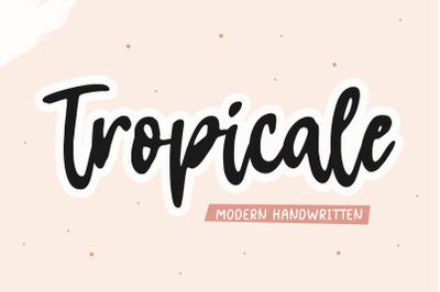 Tropicale Modern Handwritten Font