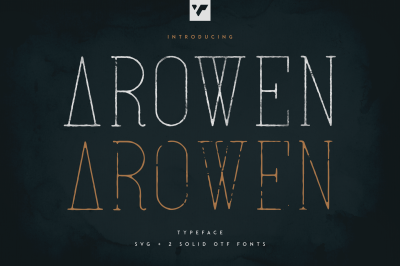 Arowen - Textured + Rough Fonts
