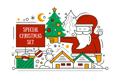 Christmas Illustrations Special Set