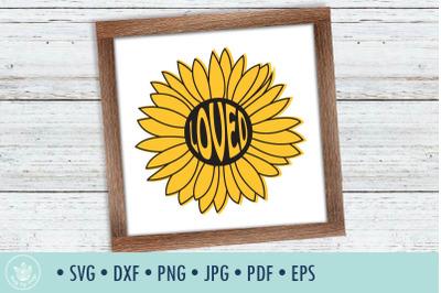 Sunflower Loved svg cut file