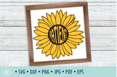 Sunflower Patient SVG cut file
