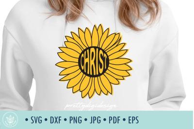 Sunflower Christ SVG cut file