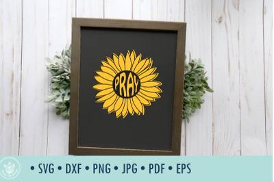 Sunflower Pray SVG cut file